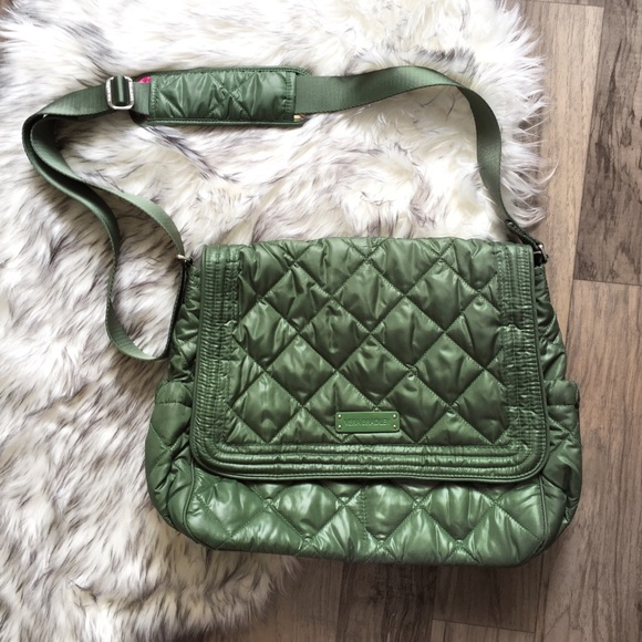5bbeef6be6 NWOT Vera Bradley Olivia Pink Green Messenger Bag.  M 5bae6d0c2beb79035630b24a